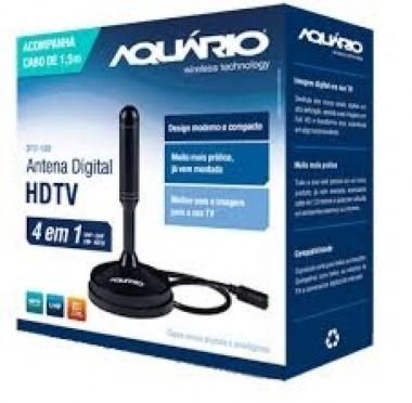 Antena Digital Dtv 100 Aquário Com Cabo De 1,5 Metros