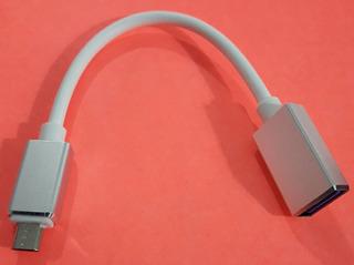 Adaptador Otg Reforzado Cable Corto Usb A Micro Usb
