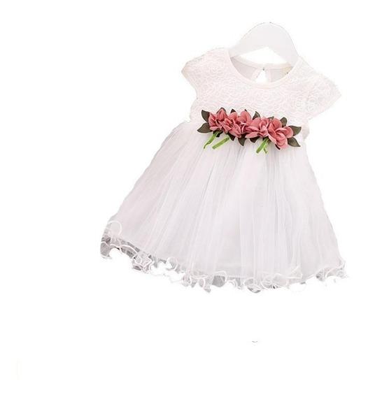 Vestido Flores Niña Bebe Moda 6 Meses - 24 Meses Ropa Formal