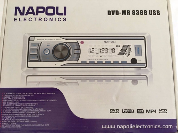 Toca Radio Cd/dvd Napoli Maritimo Marinizado Mp3/fm/sd/usb