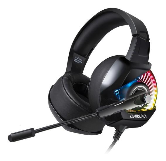 Fone Ouvido Headset Gamer K6 Rgb Led Onikuma Ps4 Xbox Pc