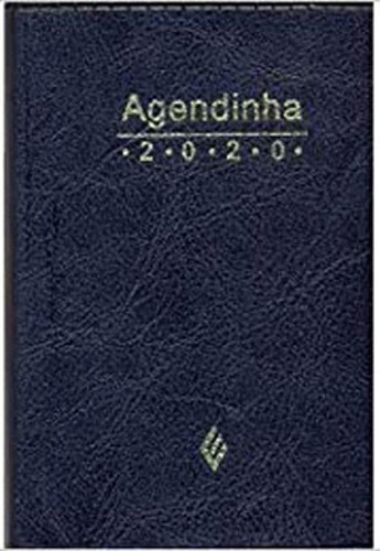 Imagem 1 de 1 de Agenda Simples - 2020 - Preta