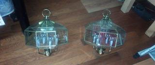 Candelabros De Laton Biselados, 4 Luces.