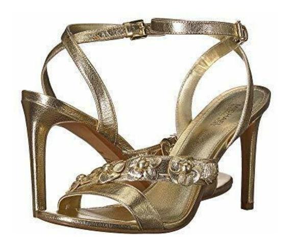 Zapatos Sandalias Dama Michael Kors Piel! Talla 25.5 Mex!