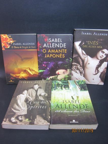 Lote 5 Livros Isabel Allende A Casa Dos Espíritos O Amante..