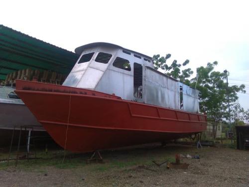 Barco Lancha En Hierro Naval Motor Diesel Caterpillar 3406
