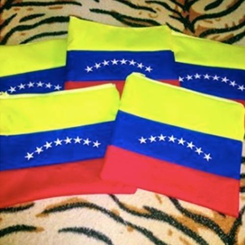 Cartuchera Tricolor Bandera De Venezuela (el Par)