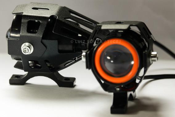 Farol Milha Led Auxiliar Neblina Moto Universal Tipo Xênon