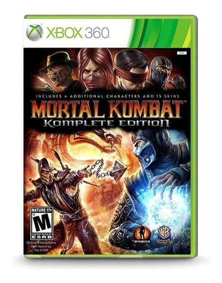 Mortal Kombat 9 Komplete Edition - Xbox 360 - Novo - Física