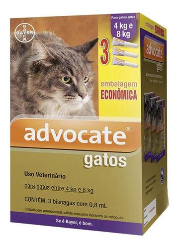 Antipulgas Advocate Gatos +4kg 3 Pipetas