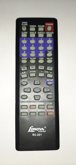 Controle Remoto Dvd Lenox Rc-201 Original Dk-417 / Dk-418
