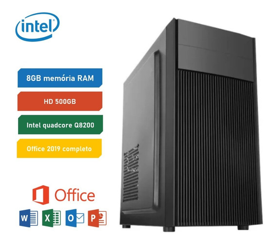 Pc Escritório Computador Desktop Intel 8gb Ram Hd 500gb I5