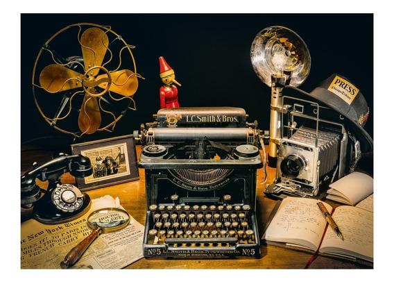 Nostalgia Vintage Typewriter Rompecabezas 500 Pz Clementoni