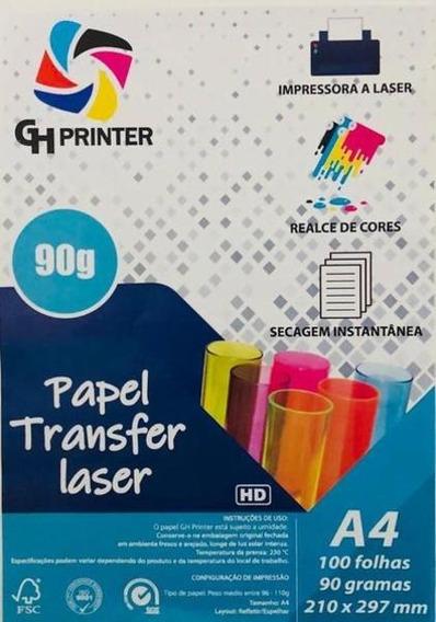 Papel Transfer Laser Rigido A4 100 Folhas 90 Gramas Promoção