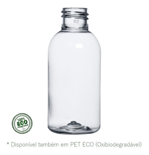 500 Frascos Pet Transparente Cilíndrico 60ml 7g Bocal 20-410