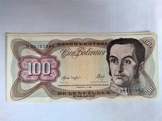 Billete De 100 Bolívares Antiguo Colección Excelente Estado