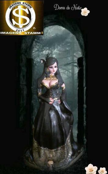 Dama Da Noite,escultura 20cm,mod. Basica