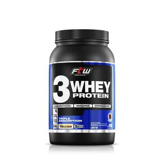 Whey 3 Protein Fitoway Ftw - Sabor Morango - 900gr