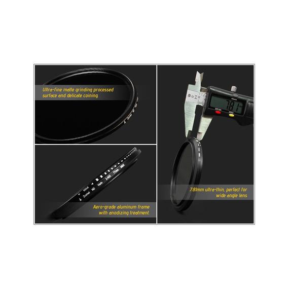 Zomei 72mm Ultra Slim Fader Varivel Nd2-400 Nd Neutro