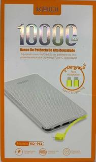 Carregado Portatil Celular 10.000 Mah Powerbank Kd 951 Kaidi