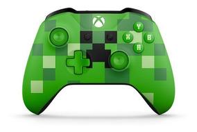 Controle Microsoft Minecraft Creeper Sem Fio Xbox One S Novo