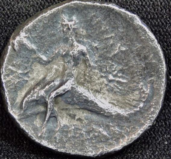Moeda Antiga Império Grego Calabria Tarentum Grécia Prata