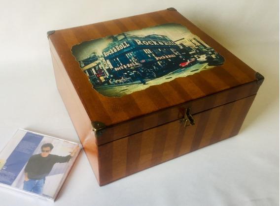 Caixa Porta Cds Vintage - Artesanato