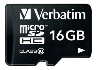 Memoria Micro Sd 16 Gb Verbatim Clase 10 44082 Envio Full
