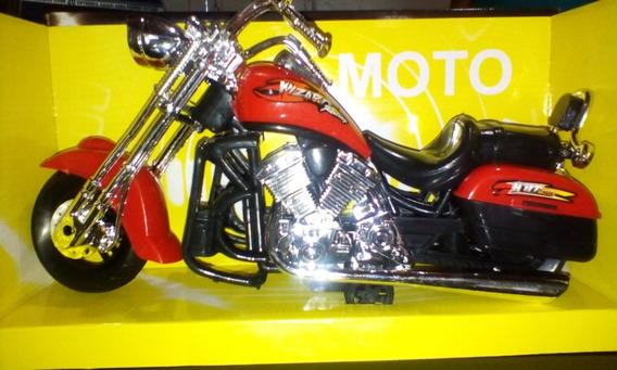 Moto Chopper De Juguete De Fricción Tipo Coleccionable