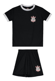 Kit Juvenil Corinthians Basic Preto