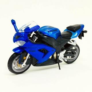 Miniatura Moto Kawasaki Ninja Zx-10r Azul 1:18 Burago 070074