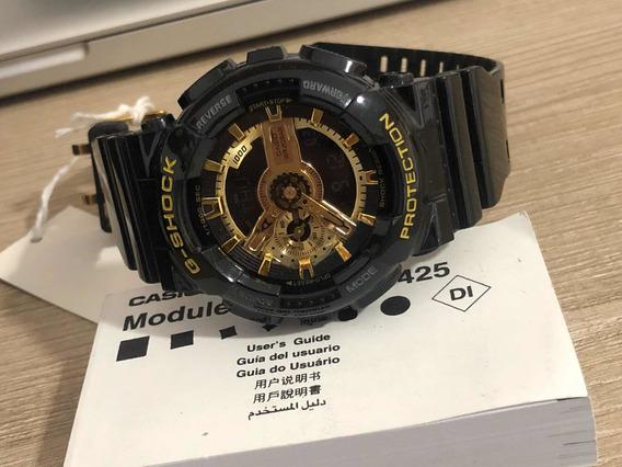 G Shock Casio Modelo Ga-110gb Preto E Dourado