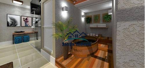 Cobertura Com 2 Dormitórios À Venda, 80 M² Por R$ 290.000,00 - Vila Junqueira - Santo André/sp - Co0462