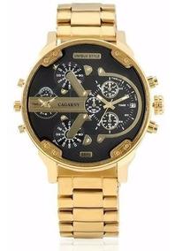 Relógio Cagarny Original Importado Dourado Masculino