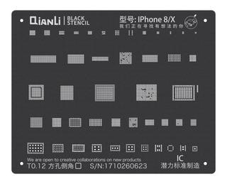 Black Stencil Qianli Para iPhone 8 / X