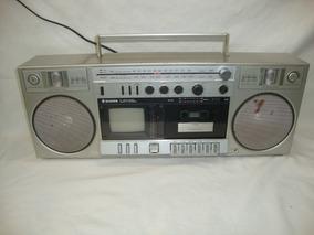 Antigo Radio Boombox Silver Japones Com Televisão Am Fm
