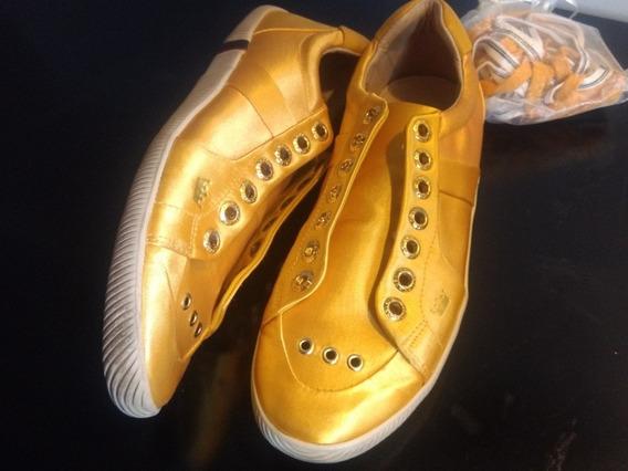 Tênis Feminino Osklen 38 Amarelo Cetim