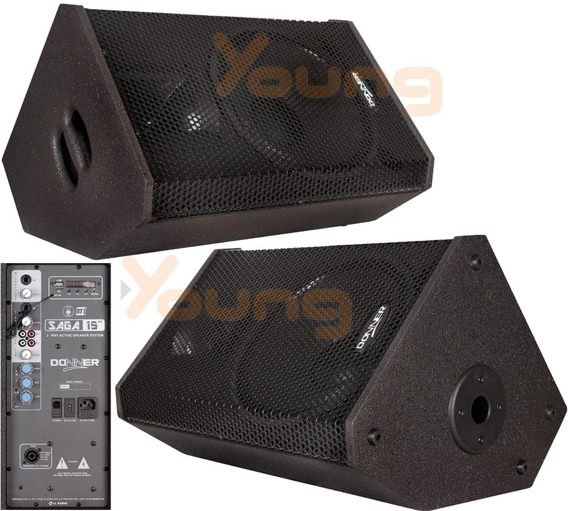 Kit Monitor Retorno Caixa Ativa 15 + Passiva 300w Saga15 Nca