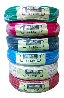 Cable Unipolar Normalizado Cablenet 2.5mm X 100 Mts