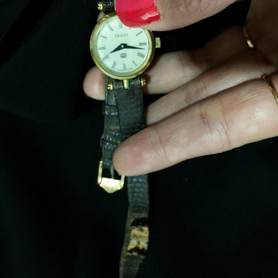 Relógio Gucci Antigo Vintage Folheado Ouro 18k Original