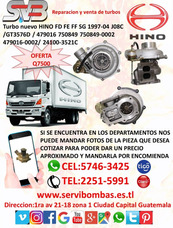 Reparacion De Turbos Para Camiones Hino Fb J08 Gt3576 Guate