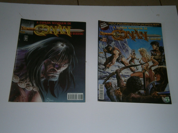 Conan - A Espada Selvagem Nºs 168 E 177 Raros E Antigos