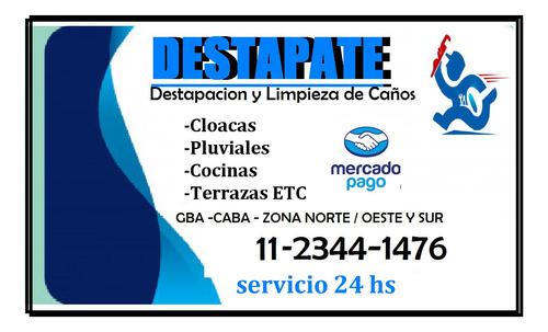 Destapacion De Cañerias Cloacas En  Villa Pueyrredon