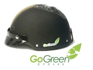 Casco Go-green Para Motos Calavera City Coco