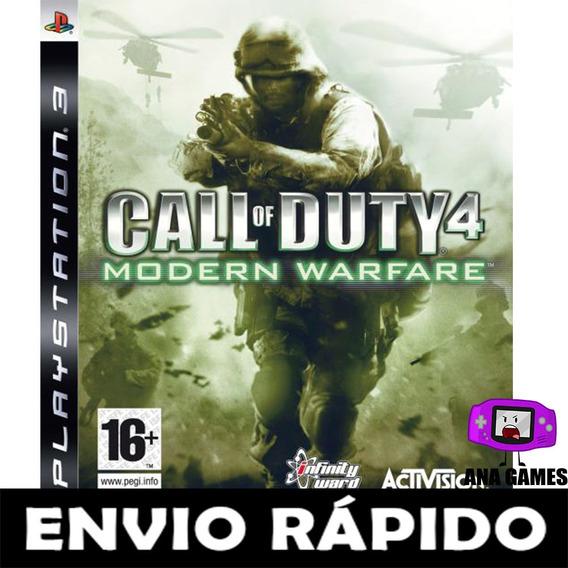 Call Of Duty 4 Mw Ps3 - Jogo Digital