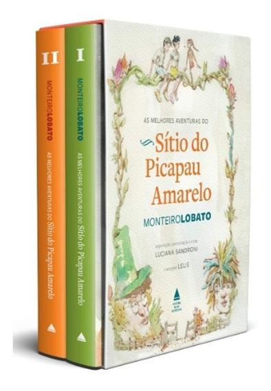 Box Livro As Melhores Aventuras Do Sítio Do Picapau Amarelo
