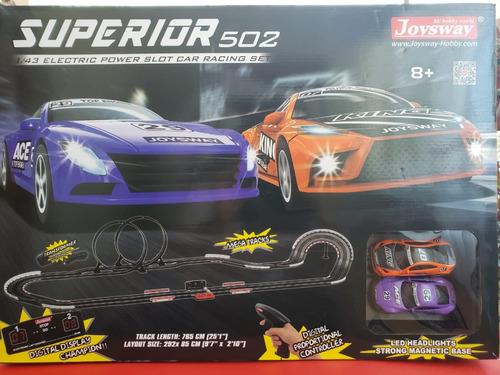 Pista Autos De Carrera Electrica  7.65mts Superior 502