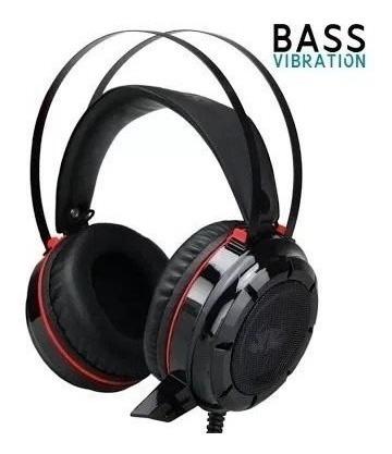 Headset Gamer Kp417 Led 7.1 Vibratorio E Adaptador De Brinde