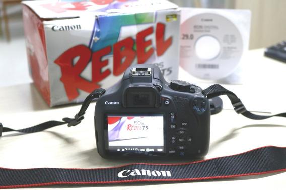 Camera Digital Dslr Canon T5 Com Lente 18-55mm