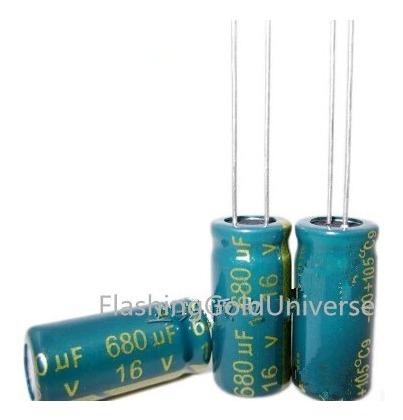 10 Eletrolítico 680uf / 16v (envio Carta Registrada)